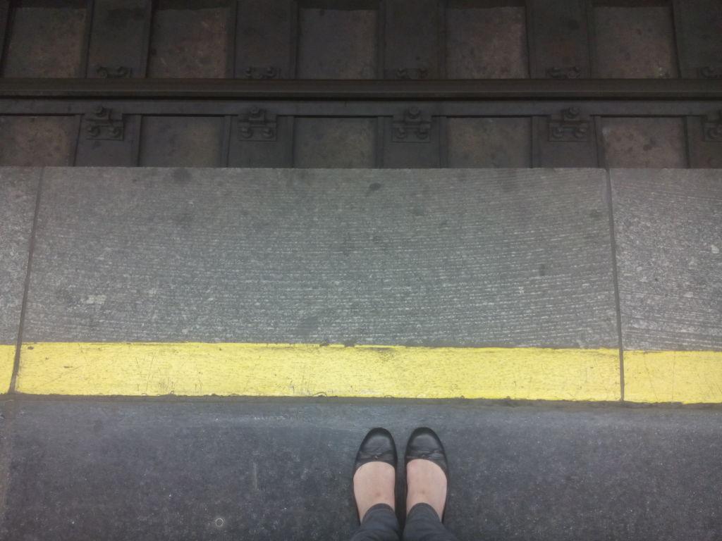 Bahnsteig Warten